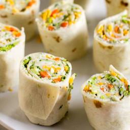 Vegetable Tortilla Roll Ups