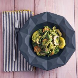 Vegetables in a Creamy Pesto Sauce Recipe
