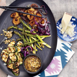 Vegetables with Walnut Dressing