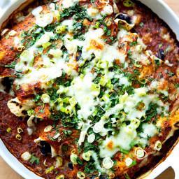 Vegetarian Bean and Cheese Enchiladas