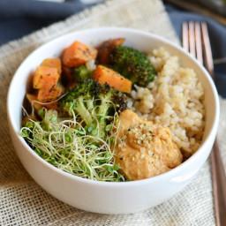 Vegetarian Brown Rice Bowl