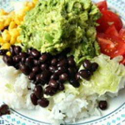 Vegetarian Burrito Plate