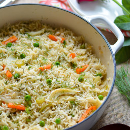 Vegetarian Carrots and Fennel One Pot Rice