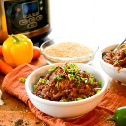 Vegetarian Chili with Quinoa & Chocolate