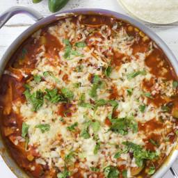 Vegetarian Enchilada Skillet