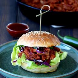 Vegetarian Jackfruit Pulled Pork Burger