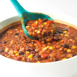 Vegetarian Lentil Chili (Instant Pot or Slow Cooker) • Tastythin
