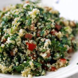 Vegetarian Quinoa Tabbouleh Salad (Gluten-free, Vegan)