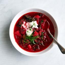 Vegetarian Red Borscht