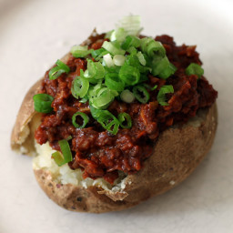 Vegetarian Sloppy Joe Baked Potatoes
