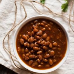 Vegetarian Slow Cooker Baked Beans