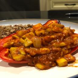 Vegetarian Stuffed Red Pepper (Serves 2)