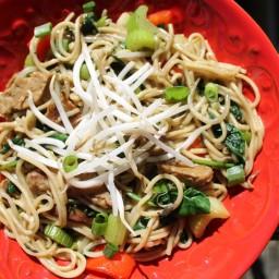 Vegetarian Crock Pot Chow Mein with Seitan
