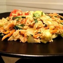 Vegetarian Lime Orzo