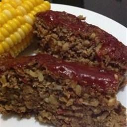 Vegetarian Mushroom-Walnut Meatloaf
