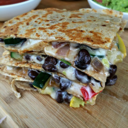 Veggie and Black Bean Quesadillas