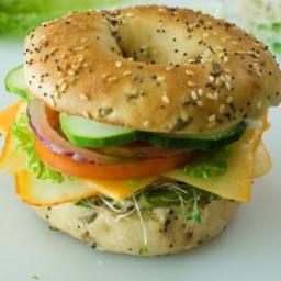 Veggie and Cheese Bagel Sandwich