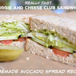 Veggie and Cheese Club with Avocado Spread Recipe