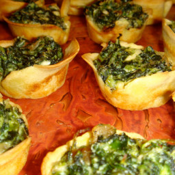 Veggie - Artichoke and Spinach Crepe Cups