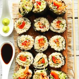 Veggie Brown Rice Sushi