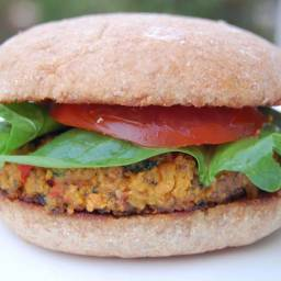 Veggie Burgers (another meal you can freeze!) made with Homemade Breadcrumb
