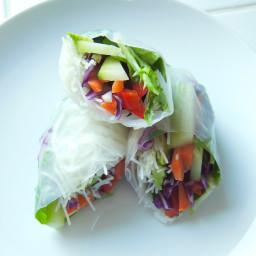 Veggie Fresh Rolls with Spicy Peanut Sauce