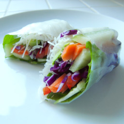 Veggie Fresh Rolls with Spicy Peanut Sauce