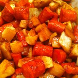 Veggie: Hoisin-Caramelized Root Vegetables