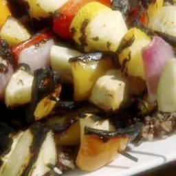 Veggie Kabobs with Herb and Garlic Marinade