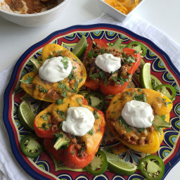 Veggie-Loaded Mexican Stuffed Peppers with Ground Turkey