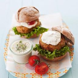 Veggie patty sandwiches