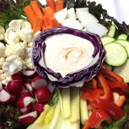Veggie Platter with Buffalo Ranch Dip