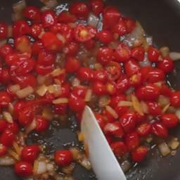 Veggie:  Spaghetti Squash Roasted with Tomato & Mozzarella