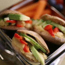 Veggie-Stack Pita Pockets