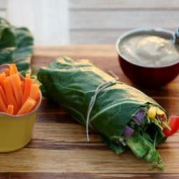 VEGGIE STUFFED COLLARD GREEN WRAP