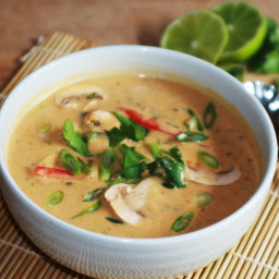 Veggie Thai Coconut Soup (Tom Kha)