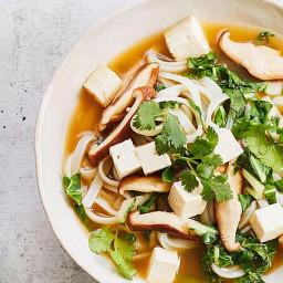 Veggie Tofu Noodle Soup