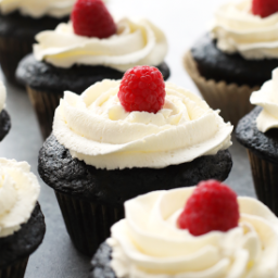 VIDEO: Healthier Chocolate Cupcakes with Honey Whipped Cream Frosting