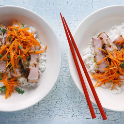 Vietnamese Grilled Smoked Pork Chop Rice Bowls