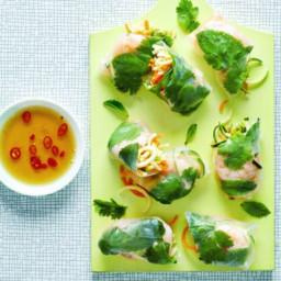 Vietnamese prawn spiralized rolls