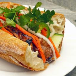 Vietnamese Sandwich Baguette with Beef