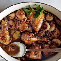 Vinegar-Braised Chicken and Onions