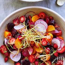 Vineyard Beet and Strawberry Salad