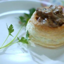 Vol au Vents - Chicken a la King & Puff Pastry