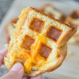 Waffle Baker Grilled Cheese Sandwich
