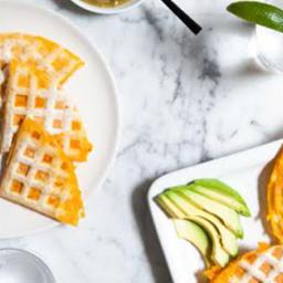 Waffle-Iron Quesadillas