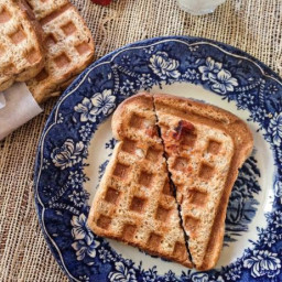 Waffle-Pressed Pizza Pockets