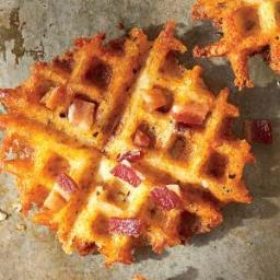 Waffled Bacon and Cheddar Grits