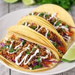 Walnut Meat Tacos {soy & dairy free}