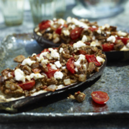 Walnut-Stuffed Eggplant
